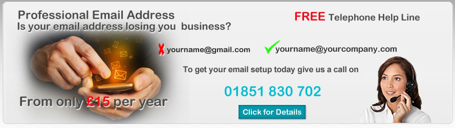 Register a Professional Email Address with an Isle of Lewis Company